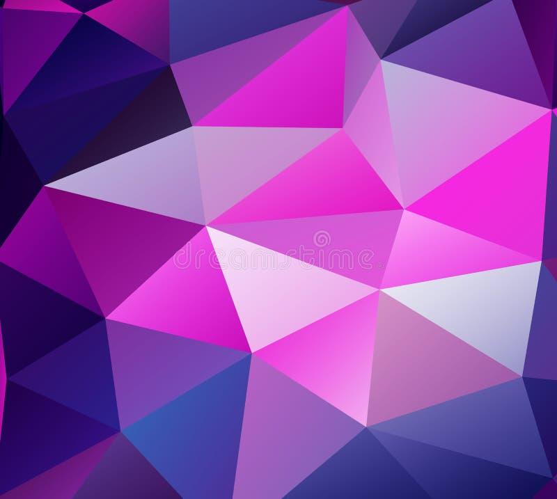 Fundo do triângulo. Polígono roxos. ilustração royalty free