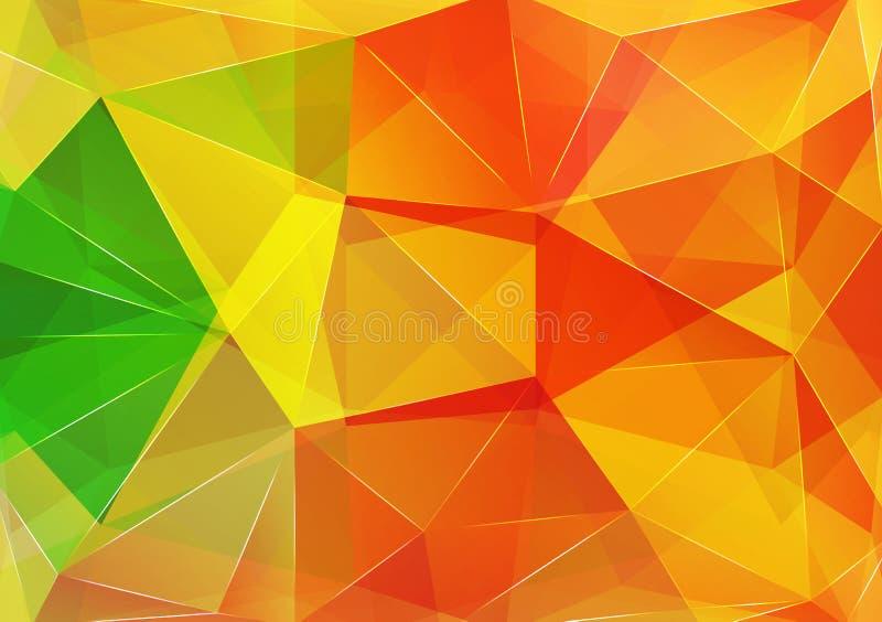 Fundo do triângulo Teste padrão de fôrmas geométricas ilustração stock