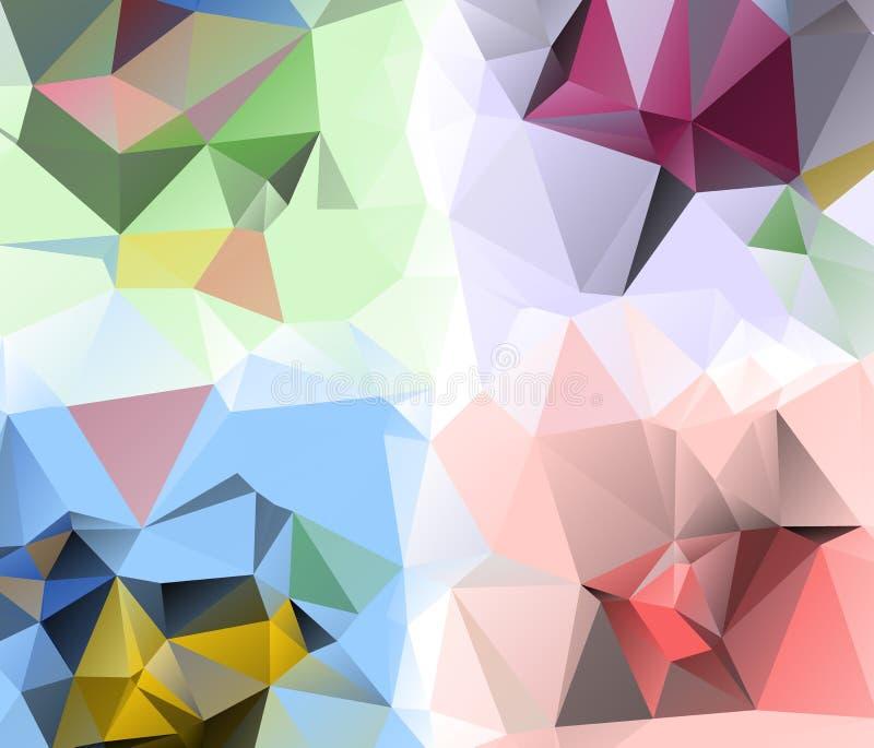 Fundo do triângulo Teste padrão de fôrmas geométricas ilustração do vetor