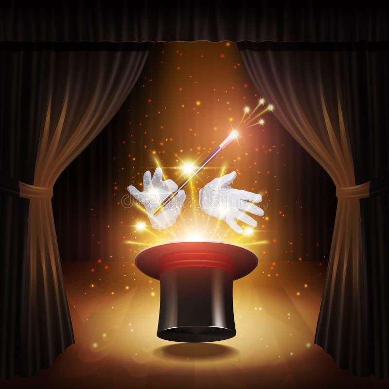 Fundo do truque mágico ilustração do vetor