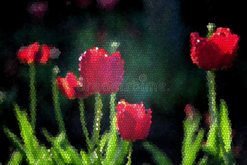 Fundo do tulipa da mola ilustração stock