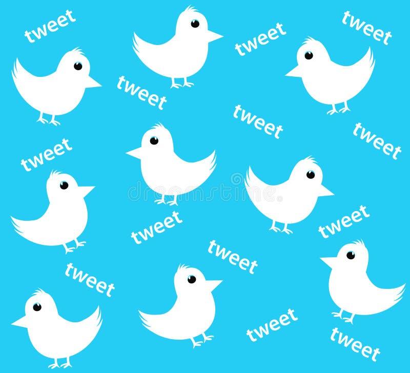 Fundo do Twitter ilustração do vetor