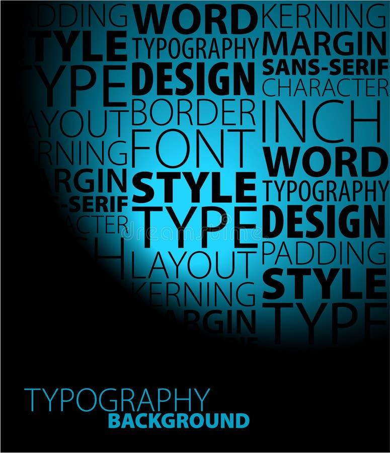 Fundo do Typography ilustração stock