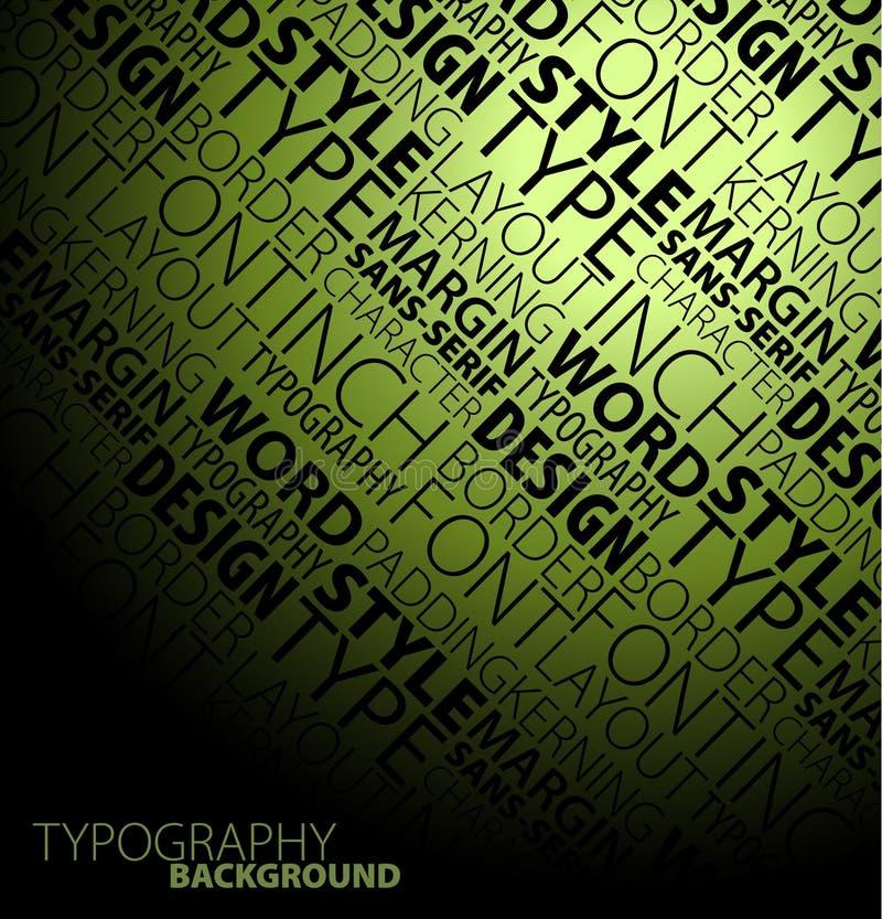 Fundo do Typography ilustração royalty free