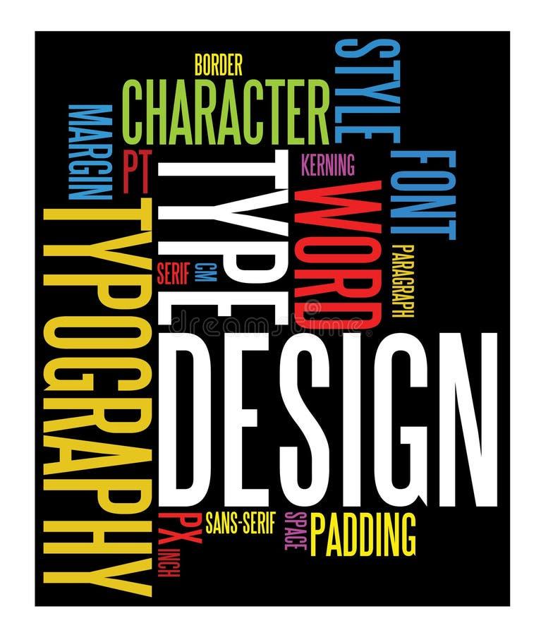 Fundo do Typography ilustração do vetor