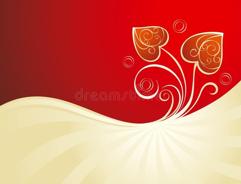 Fundo do Valentim com coração ilustração do vetor