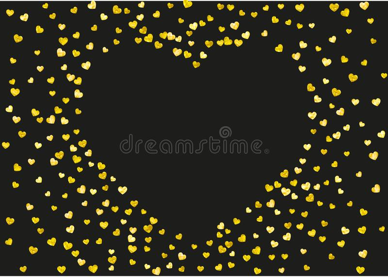 Fundo do Valentim com corações cor-de-rosa do brilho 14 de fevereiro dia Confetes do vetor para o molde do fundo do Valentim ilustração do vetor