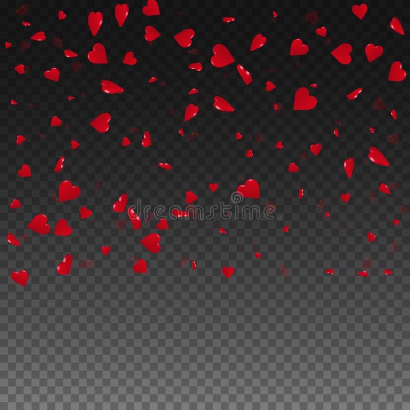 fundo do Valentim dos corações 3d ilustração stock