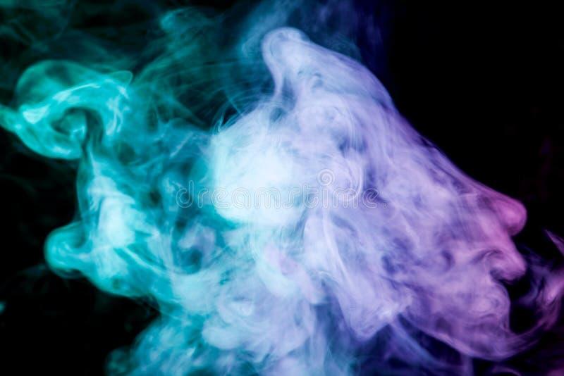 Fundo do vape do fumo fotografia de stock royalty free
