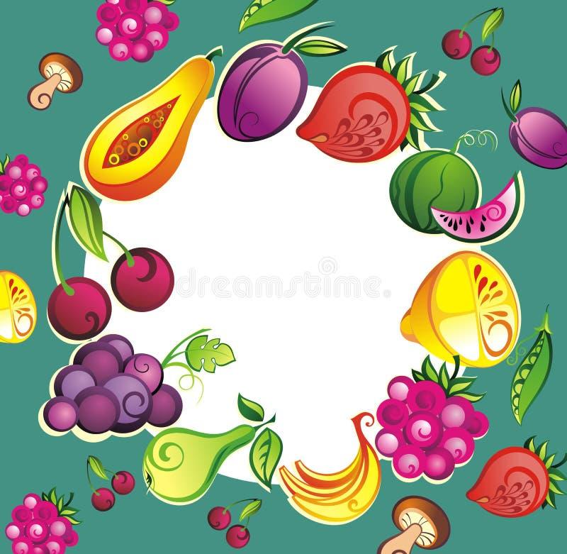 Fundo do vegetal do ² da fruta fresca ÑÑÐ ilustração royalty free