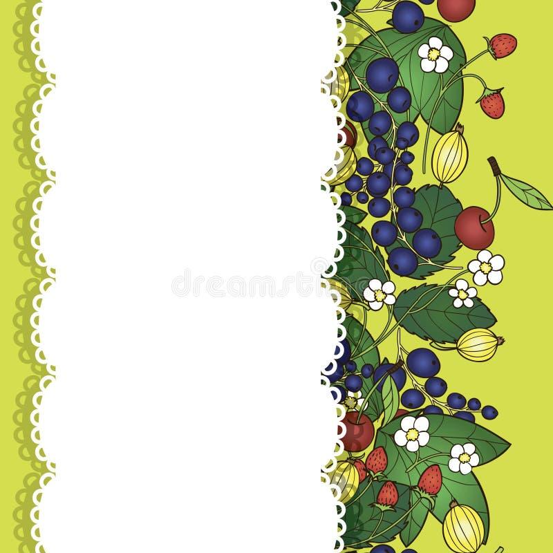Download Fundo com bagas ilustração do vetor. Ilustração de verde - 29827497