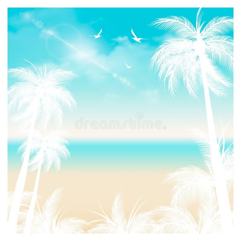 fundo do verão, horas de verão, ilustração do vetor do conceito das férias de verão ilustração royalty free