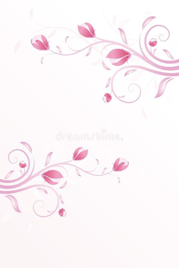 Fundo do verão na cor-de-rosa ilustração do vetor