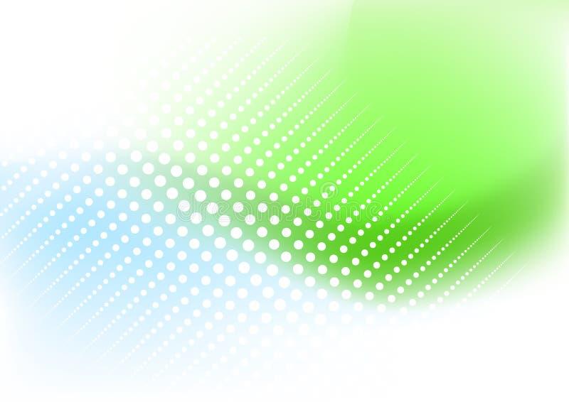Fundo do verde azul ilustração royalty free