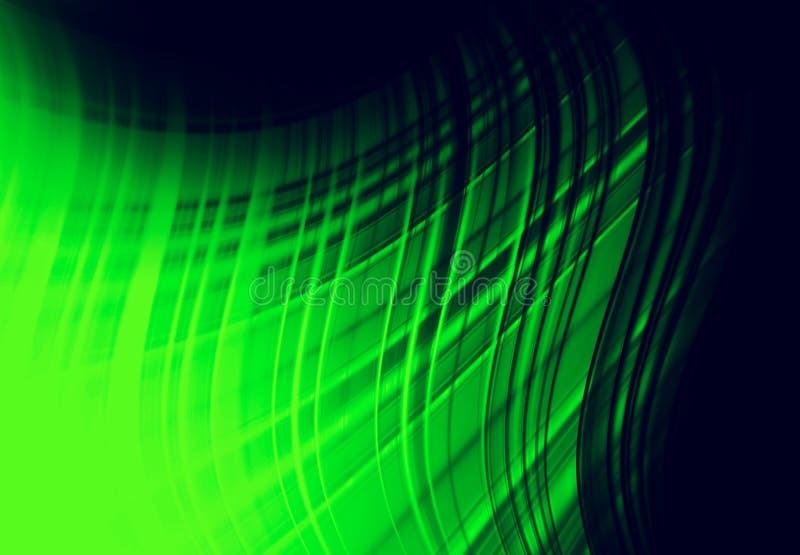 Fundo do verde de Abstracti para o cartão ilustração royalty free