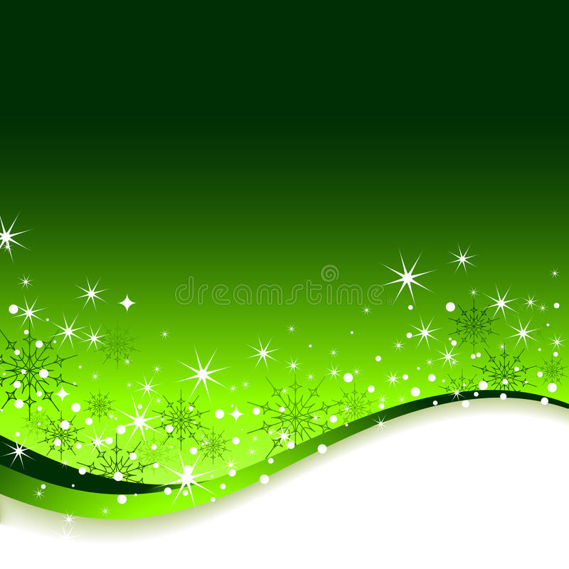Fundo do verde do ano novo. ilustração royalty free