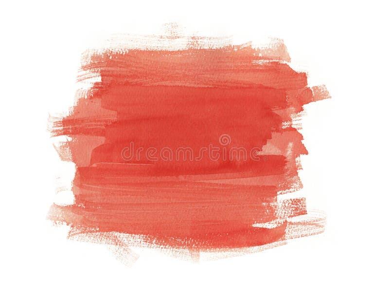 Fundo do vermelho da aquarela ilustração stock