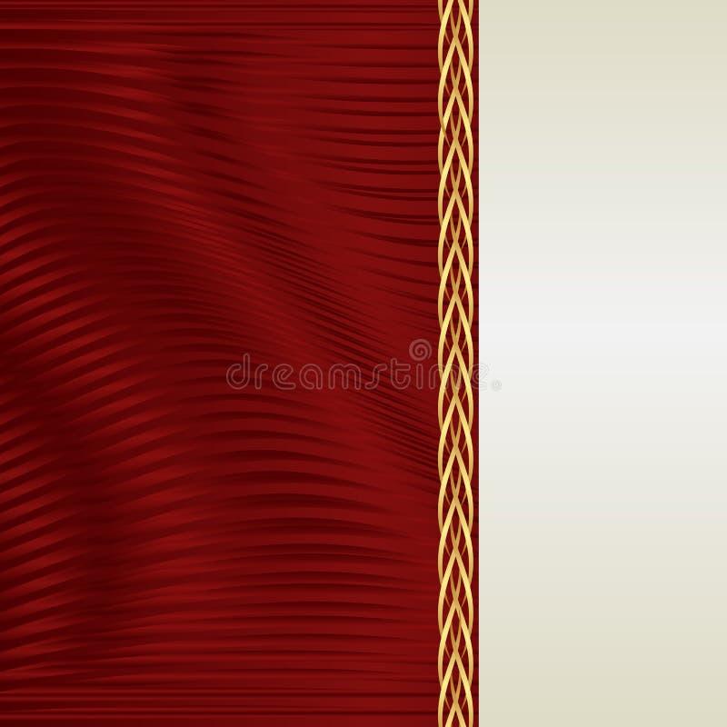 Fundo do vermelho e do ecru ilustração do vetor