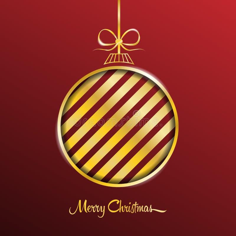 Fundo do vetor do cartão do Feliz Natal ilustração royalty free