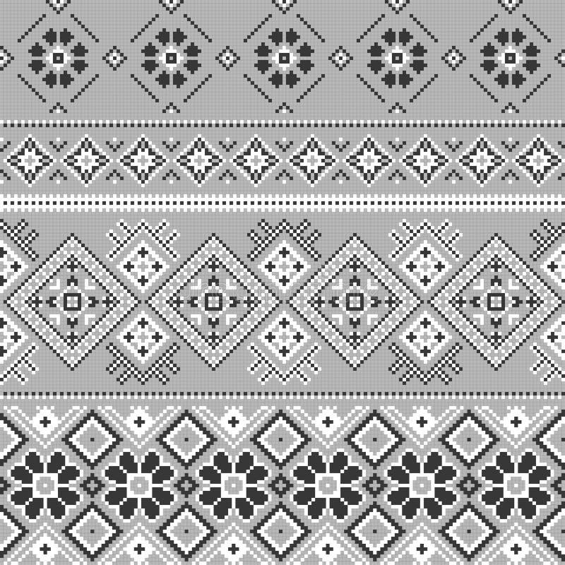 Fundo do vetor com bordado tradicional ilustração royalty free