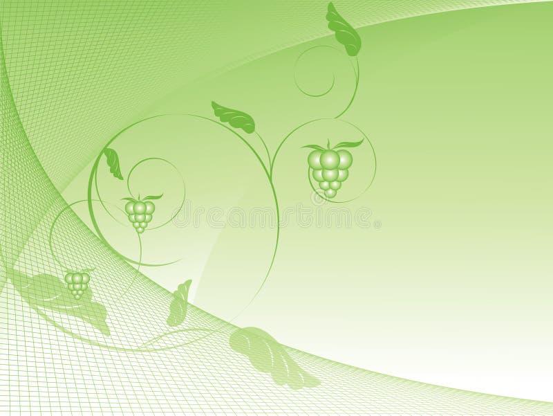 Fundo do vetor com cirves e uva ilustração stock