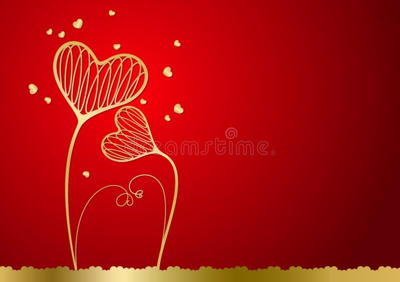 Fundo do vetor com corações ilustração royalty free