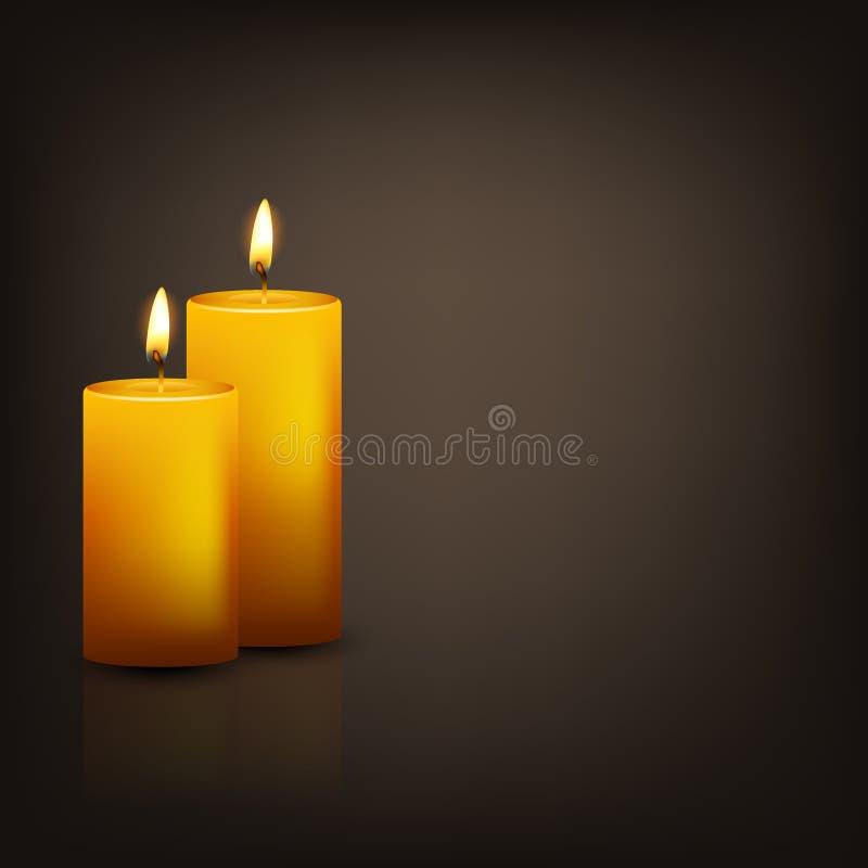 Fundo do vetor com duas velas ilustração royalty free