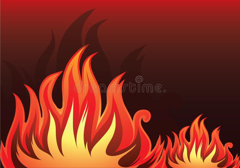 Fundo do vetor com incêndio ilustração stock