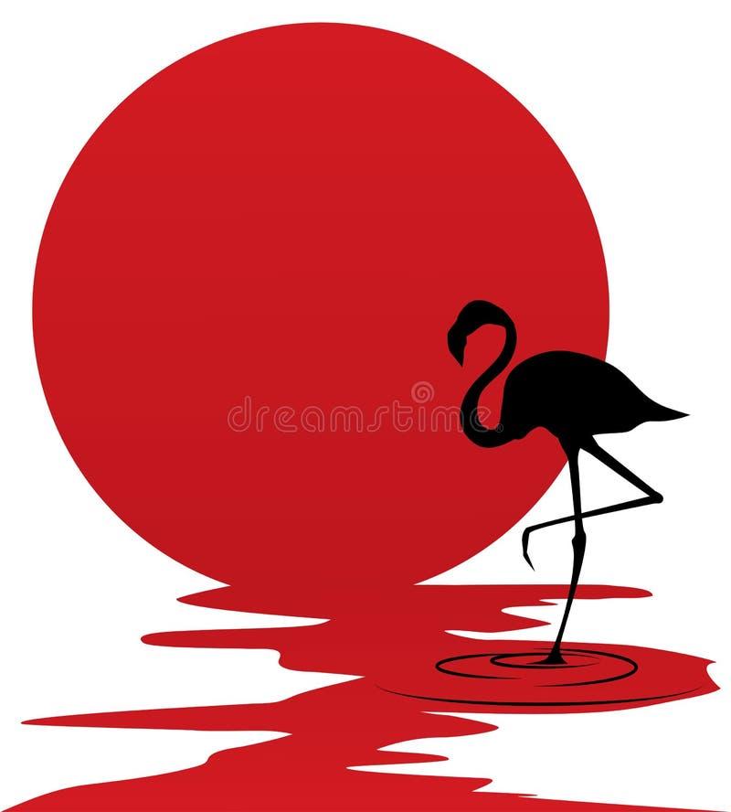 Flamingo ilustração stock
