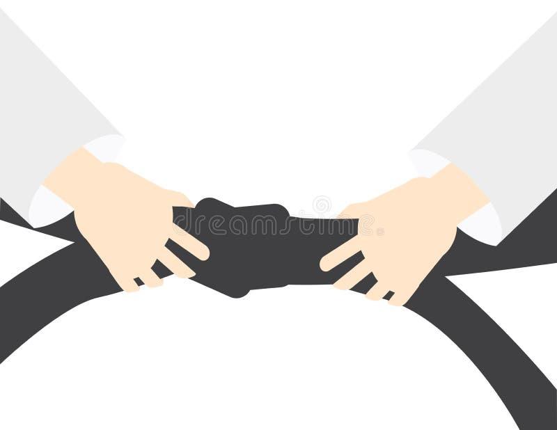 Fundo do vetor da arte marcial - mão que guarda o cinturão negro ilustração royalty free