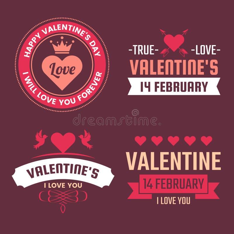 Fundo do vetor da bandeira do molde do Valentim para a bandeira ilustração royalty free