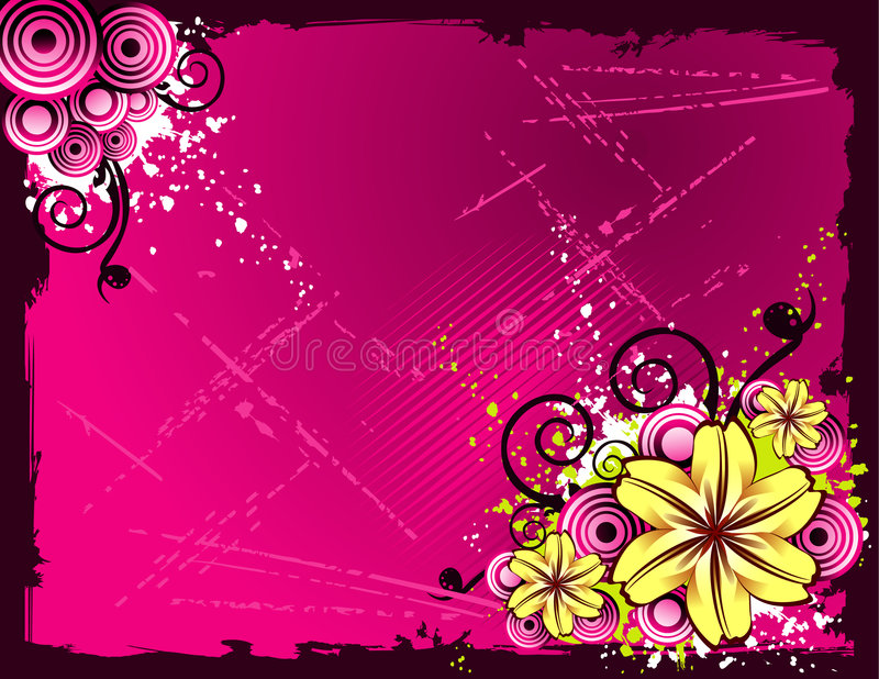 Fundo do vetor da flor ilustração royalty free