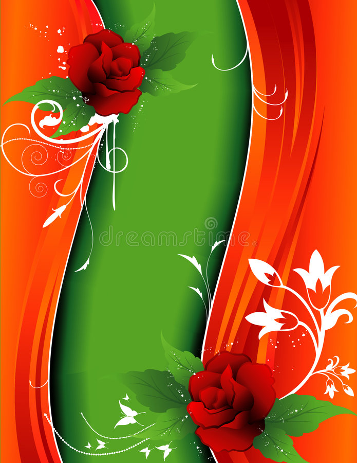Fundo do vetor da flor ilustração do vetor