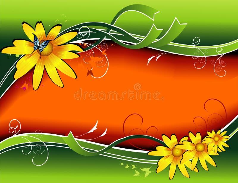 Fundo do vetor da flor ilustração stock
