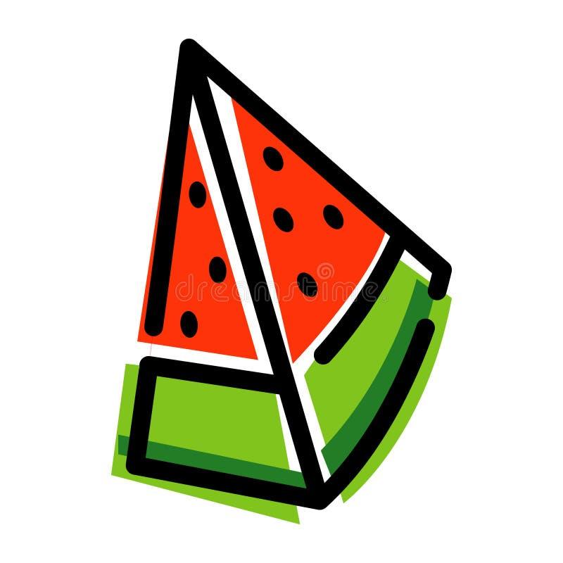 Fundo do vetor da melancia, vetor do simplewatermelon imagem de stock