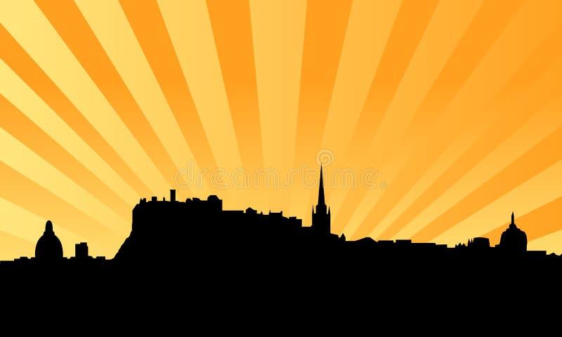 Fundo do vetor da skyline de Edimburgo ilustração royalty free