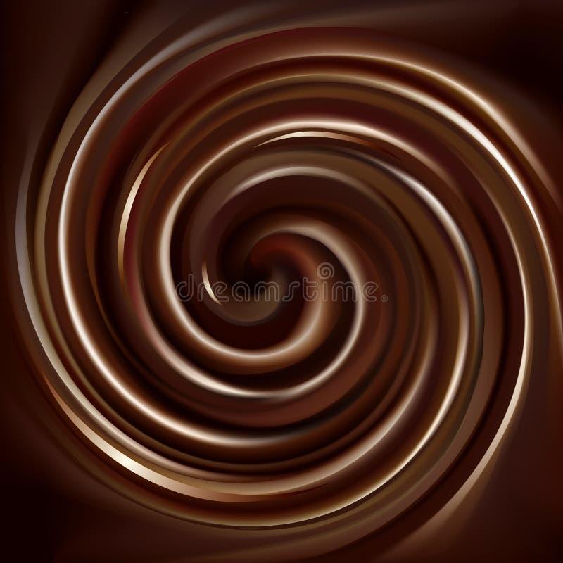 Fundo do vetor da textura de roda do chocolate ilustração stock