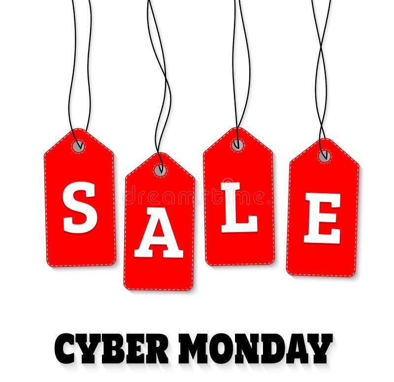 Fundo do vetor da venda de segunda-feira do Cyber ilustração stock