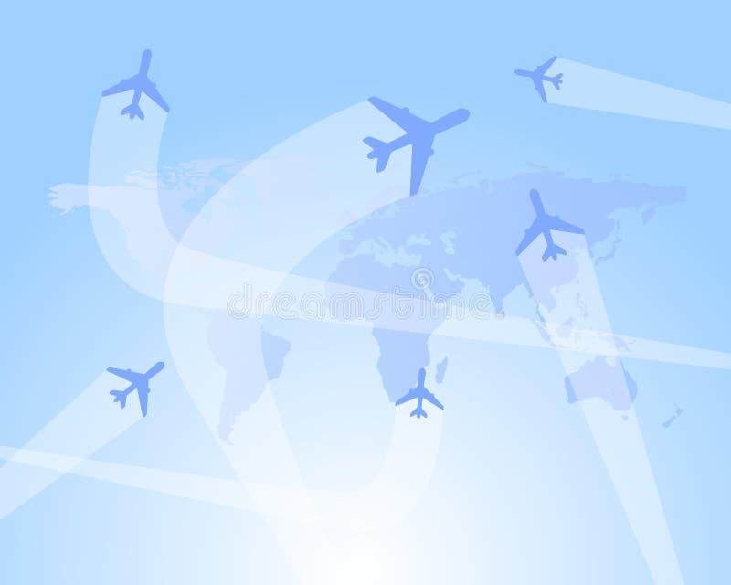 Fundo do vetor das rotas de vôo ilustração do vetor