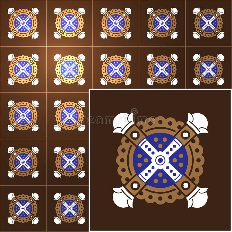 Fundo do vetor das telhas ilustração royalty free