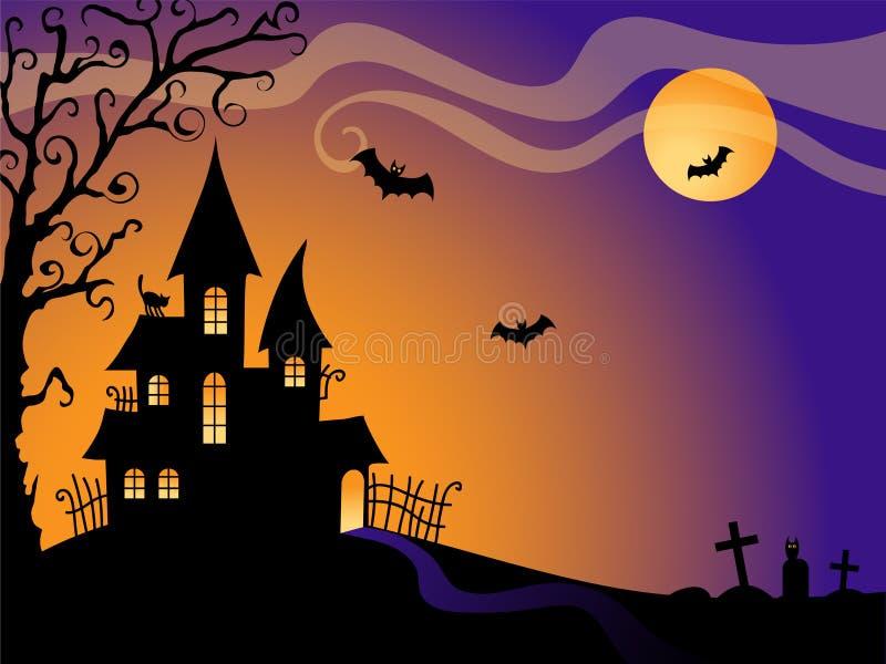 Fundo do vetor de Halloween ilustração royalty free