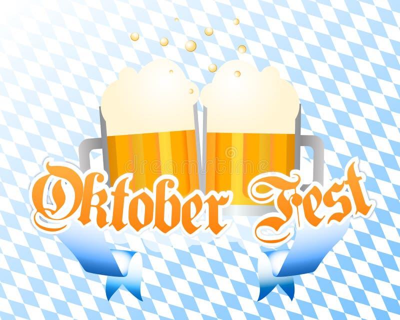 Fundo do vetor de Oktoberfest ilustração stock