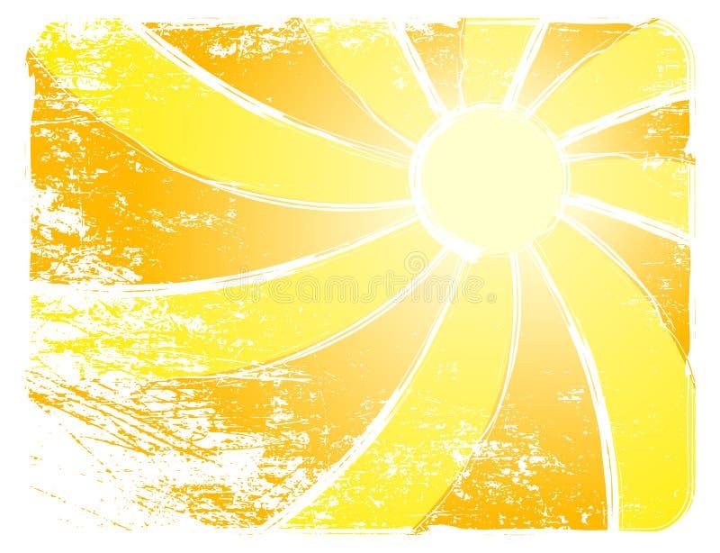 Fundo do vetor de Sun ilustração do vetor