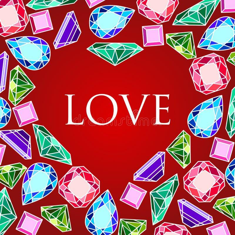 Fundo do vetor do dia de Valentim ilustração stock