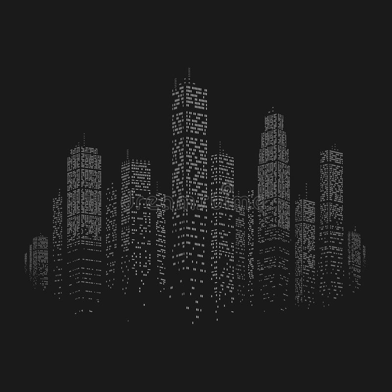 Fundo do vetor do arranha-céus da cidade ilustração stock