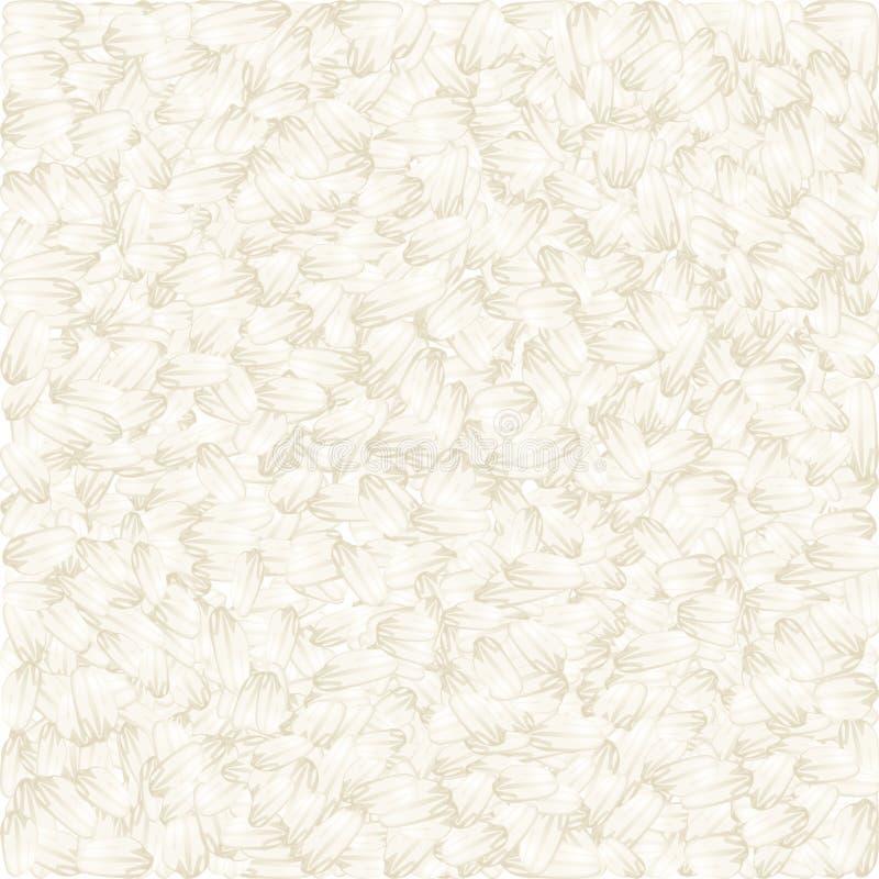 Fundo do vetor do arroz branco ilustração do vetor
