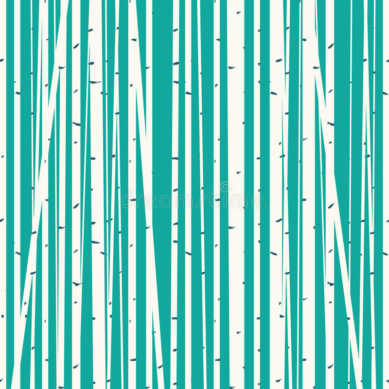 Fundo do vetor do bosque do vidoeiro contra o céu azul ilustração do vetor