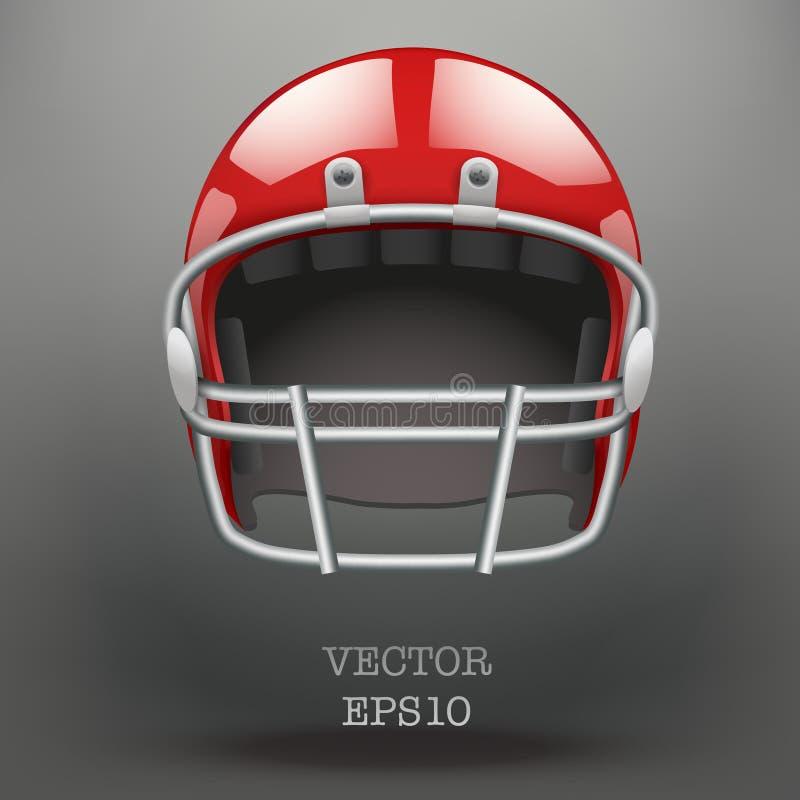 Fundo do vetor do capacete de futebol americano ilustração stock