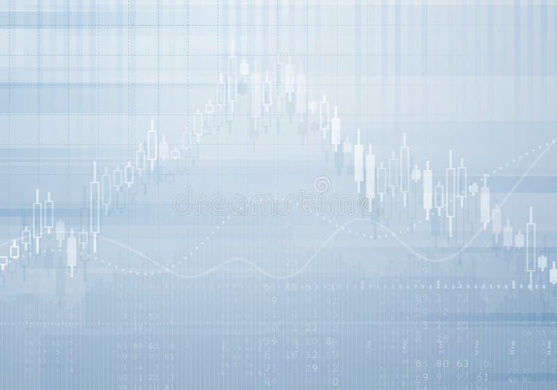 Fundo do vetor do gráfico de negócio da operação bancária Conceito do investimento e da economia com carta financeira ilustração stock