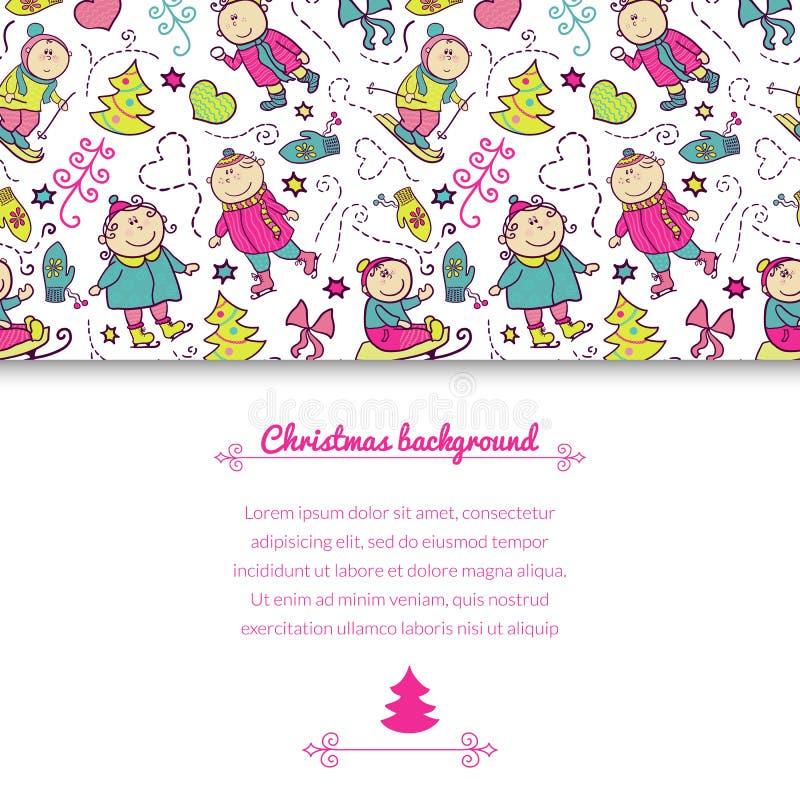 Fundo do vetor do Natal ilustração do vetor